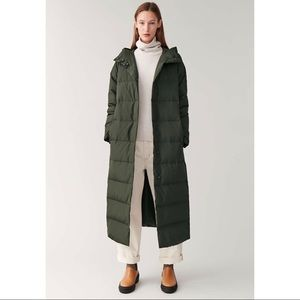 COS khaki green down jacket. outerwear.